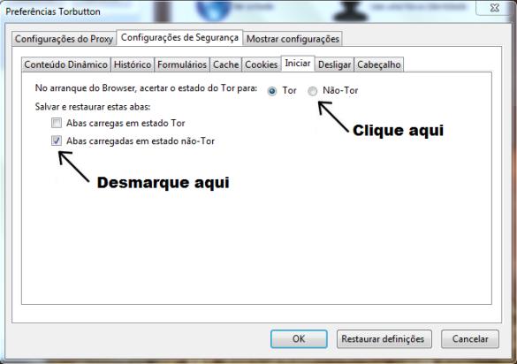 Configurando o navegador da Deep Web TOR