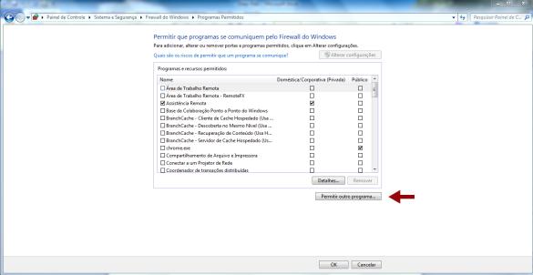 Configurando o firewall para o navegador da Deep Web TOR