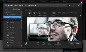 Editor de imagens online Photoshop Express Editor